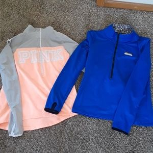 Pink running pullovers